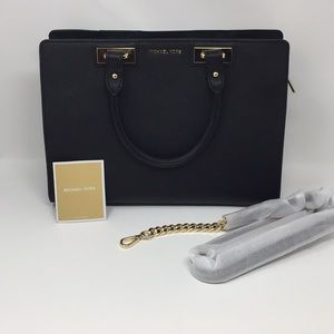 New w tags Michael Kors Quinn Large Satchel Black